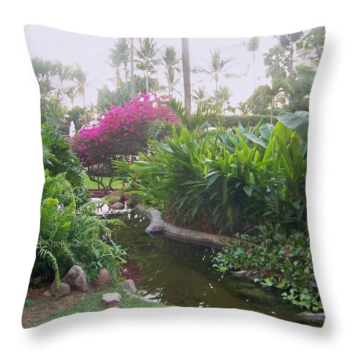 Photo Throw Pillow featuring the pyrography Tranquility by George Pasini
