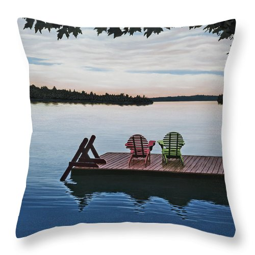 Landscapes Paintings Throw Pillow featuring the painting Tranquility by Kenneth M Kirsch
