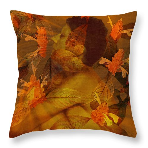 Nudes Throw Pillow featuring the photograph Tranquility by Kurt Van Wagner