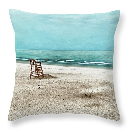 Tybee Island Throw Pillow featuring the photograph Tranquility On Tybee Island by Tammy Wetzel
