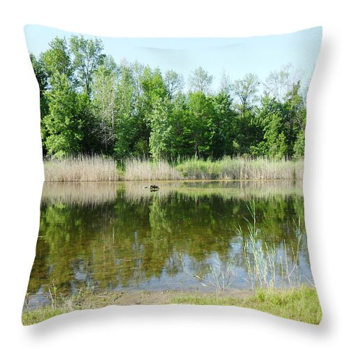 Nature Throw Pillow featuring the photograph Tranquility Reflected by Peggy King