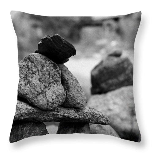 Buddhist Throw Pillow featuring the photograph Tranquility Rocks Buddhist Monastery Carmel Ny by Joseph Mari