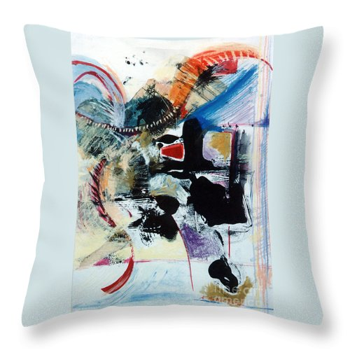 Transcendance Throw Pillow featuring the drawing Transcendance by Kerryn Madsen-Pietsch