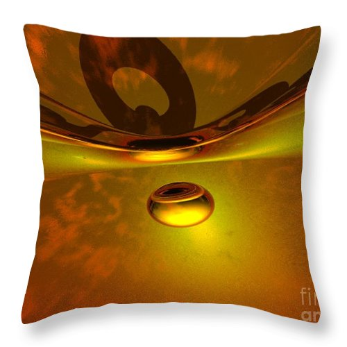 Visionary Throw Pillow featuring the digital art Transcending by Oscar Basurto Carbonell