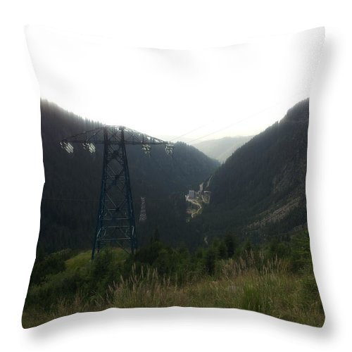 Throw Pillow featuring the photograph Transfagarasan by Gabriel Gyorfi