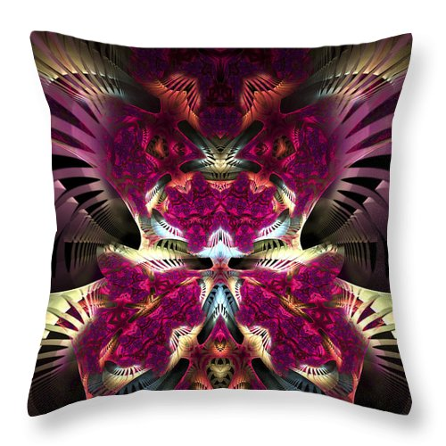Fractal Throw Pillow featuring the digital art Transfigured Future by Amorina Ashton