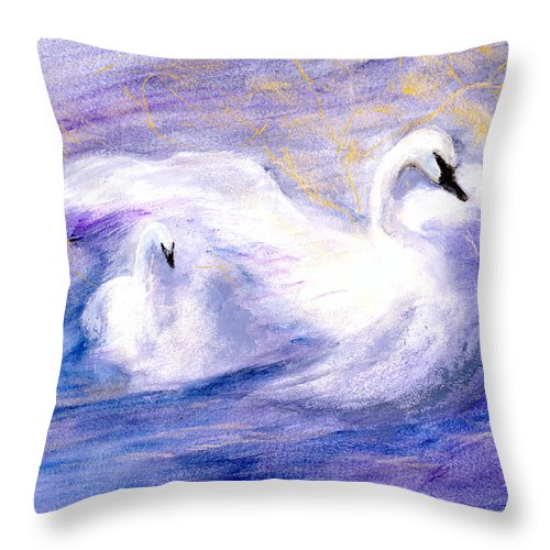 Birds Throw Pillow featuring the painting Transformation by Gail Kirtz
