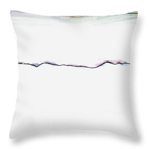 Transience Throw Pillow featuring the digital art Transience by Andy Mercer