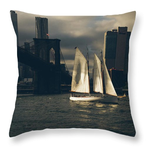 Brooklyn Throw Pillow featuring the photograph Transient by Jason Little