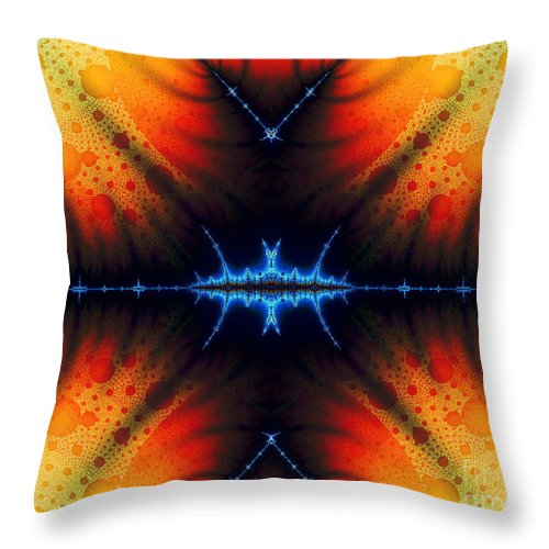 Clay Throw Pillow featuring the digital art Transient Propagation by Clayton Bruster
