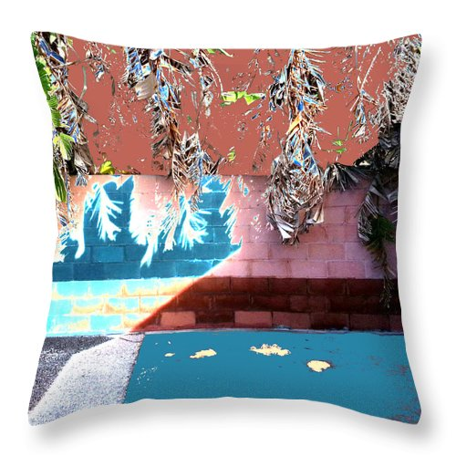 Square Throw Pillow featuring the digital art Transit by Eikoni Images