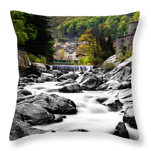 Landscape Throw Pillow featuring the photograph Transition by Lukasz Jarocki