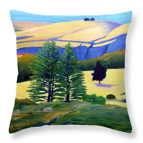 Landscape Throw Pillow featuring the painting Transitions by Gary Coleman