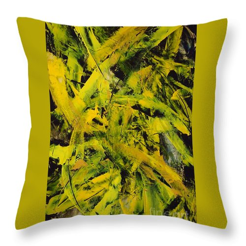 Abstract Throw Pillow featuring the painting Transitions Vi by Dean Triolo