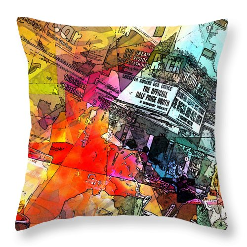 City. Colors Throw Pillow featuring the digital art Translate by Agnes V