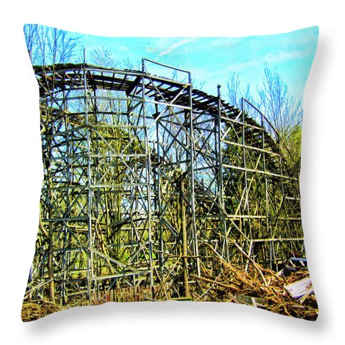 Transmutation Throw Pillow featuring the mixed media Transmutation by Dominic Piperata