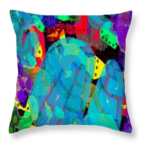 Digital Throw Pillow featuring the digital art Transparencies by Ron Bissett