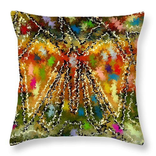 Contemporary Throw Pillow featuring the painting Trapped Butterfly by Rafi Talby