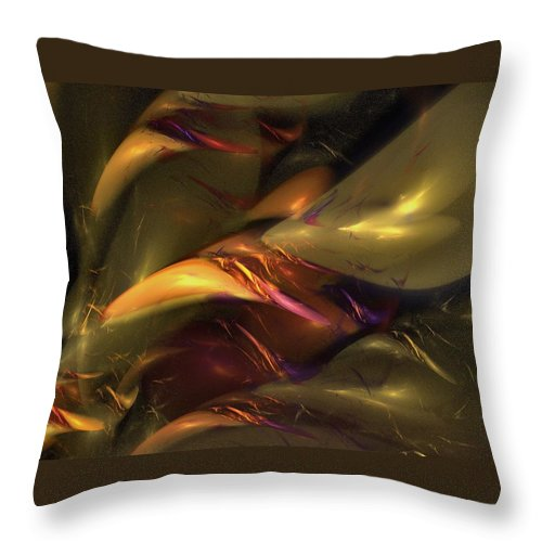 Amber Throw Pillow featuring the digital art Trapped In Amber by NirvanaBlues