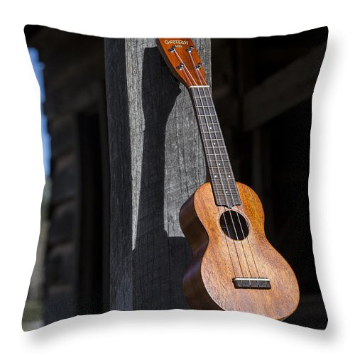 Ukulele Throw Pillow featuring the photograph Travel Light by Keith May