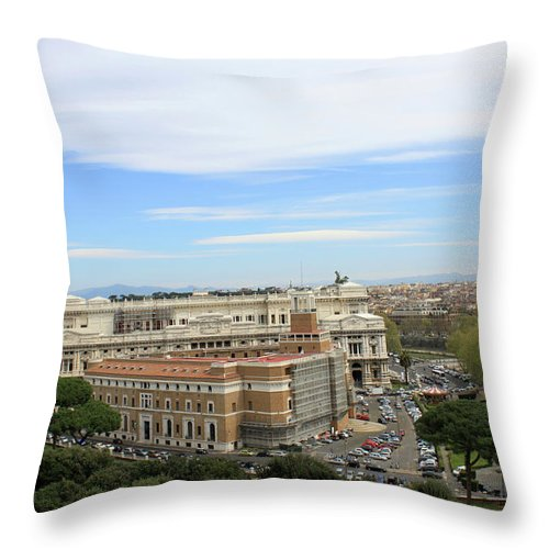 Rome Throw Pillow featuring the photograph Traveling Clouds by Munir Alawi