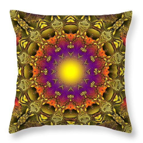 Colorful Throw Pillow featuring the digital art Traveling Home by Robert Orinski