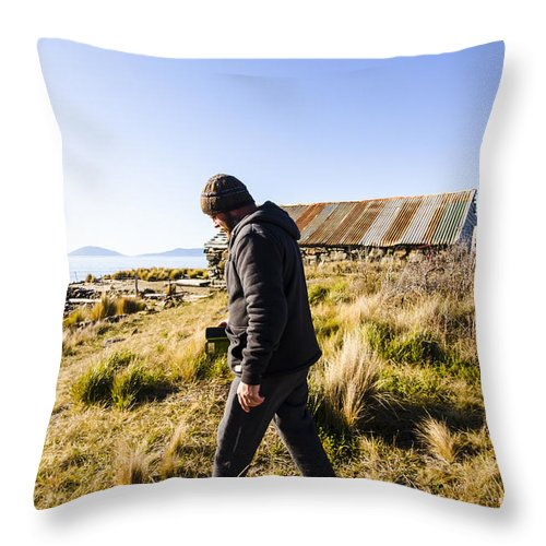 Tour Throw Pillow featuring the photograph Travelling Man Touring Australia by Jorgo Photography - Wall Art Gallery