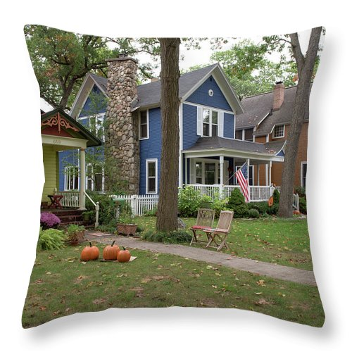 Traverse City Throw Pillow featuring the photograph Traverse City by Lori Douthat
