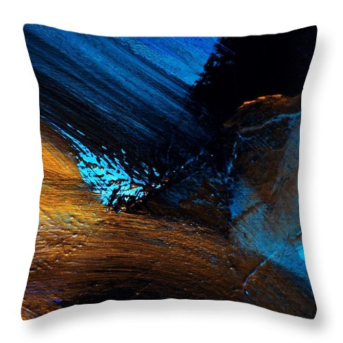Abstract Throw Pillow featuring the painting Treason by Valerie Dauce