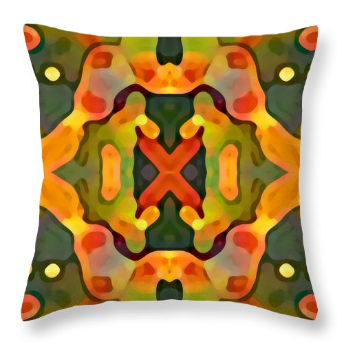 Abstract Throw Pillow featuring the painting Treasure by Amy Vangsgard