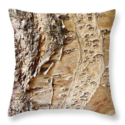 Bark Throw Pillow featuring the photograph Tree Bark 9 by Sarah Loft