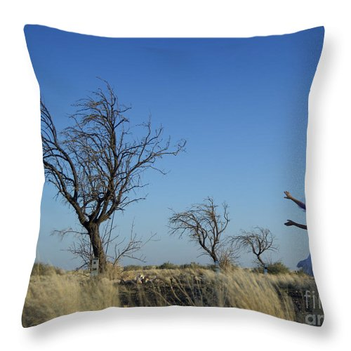 Landscape Throw Pillow featuring the photograph Tree Echo by Scott Sawyer