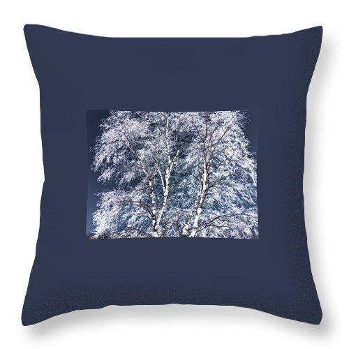 Tree Throw Pillow featuring the digital art Tree Fantasy 14 by Lee Santa