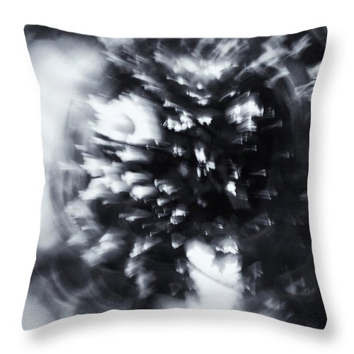 Abstract Throw Pillow featuring the photograph Tree Implosion by Scott Wyatt