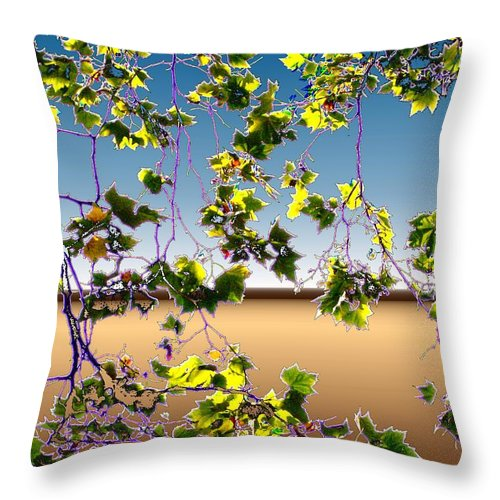 Tree Throw Pillow featuring the photograph Tree Leaves by Tim Allen