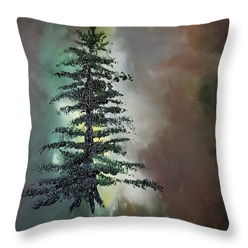 Tree Throw Pillow featuring the painting Tree Of Life     65 by Cheryl Nancy Ann Gordon