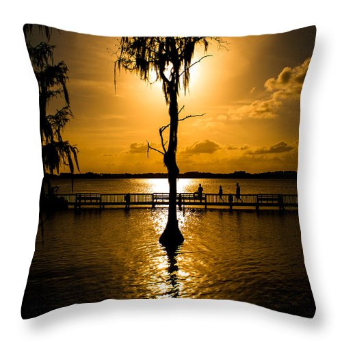 Tree Throw Pillow featuring the photograph Tree Of Life by Bobby Uzdavines