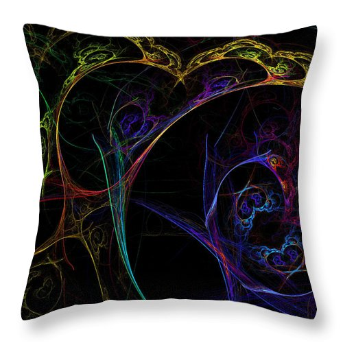 Tree Throw Pillow featuring the digital art Tree Of Life by Claire Bull