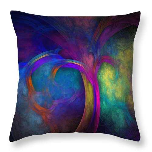 Fractal Throw Pillow featuring the digital art Tree Of Life by Lyle Hatch