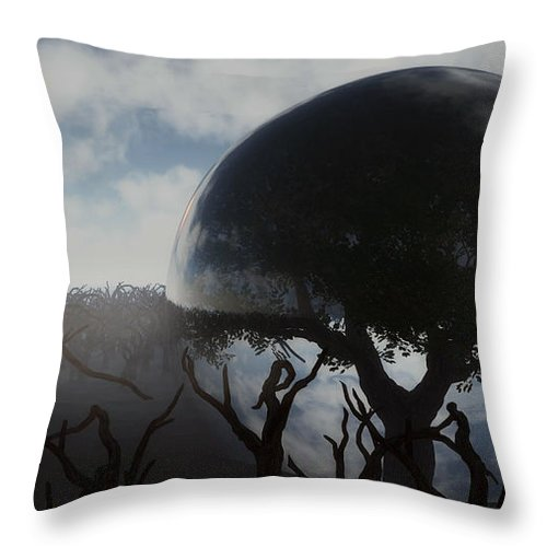 Life Throw Pillow featuring the digital art Tree Of Life by Richard Rizzo