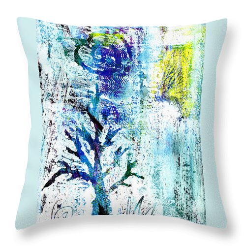 Tree Throw Pillow featuring the painting Tree Of Life by Wayne Potrafka