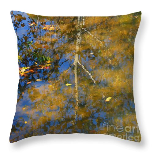 Tree Throw Pillow featuring the photograph Tree Reflections by Kerri Farley
