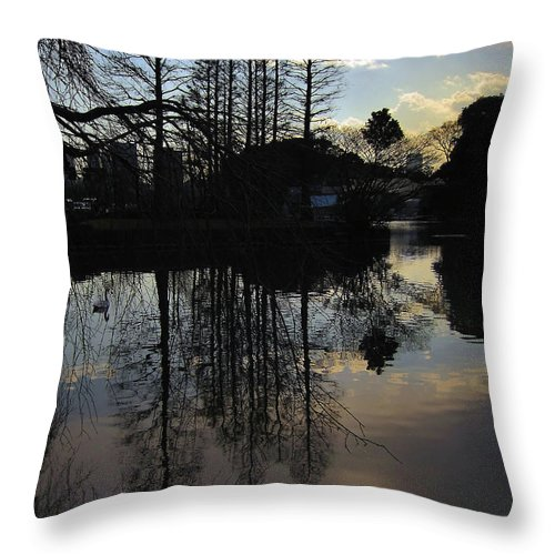 Trees Throw Pillow featuring the photograph Tree Silhouettes by Eena Bo