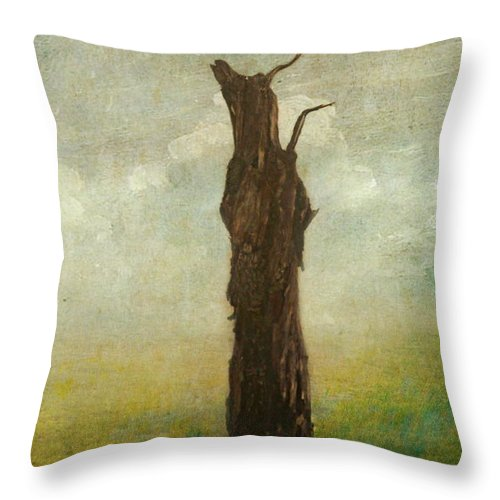 Landscape Throw Pillow featuring the photograph Tree Stilllife by Heike Hultsch