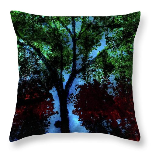 Throw Pillow featuring the digital art Tree by Vijay Prakash