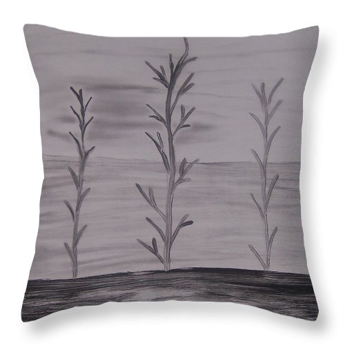 Trees Throw Pillow featuring the painting Trees by Emily Young