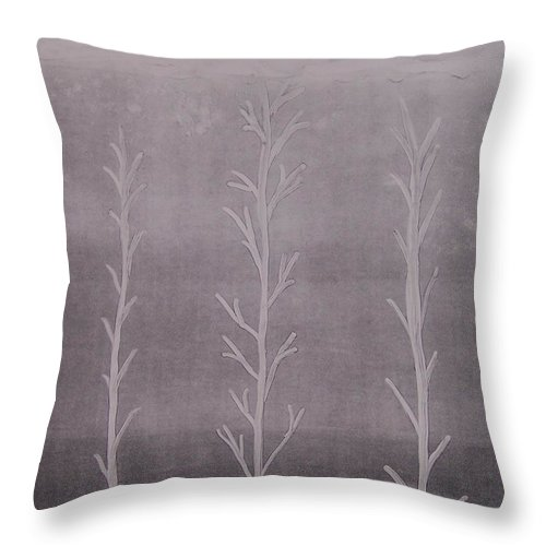 Trees Throw Pillow featuring the painting Trees II by Emily Young