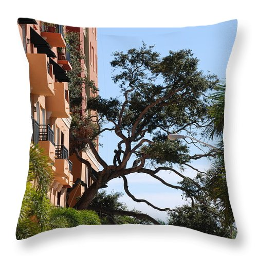 Architecture Throw Pillow featuring the photograph Trees In Space by Rob Hans