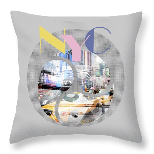 New York City Throw Pillow featuring the photograph Trendy Design New York City Geometric Mix No 1 by Melanie Viola