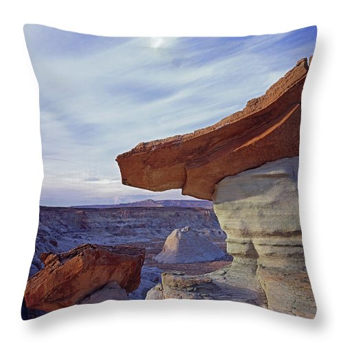 Nature Photography Throw Pillow featuring the photograph Triangle Cap by Tom Daniel